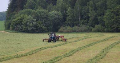 Кормозаготовка на Кореличчине подходит к завершению. Скошено 89% трав первого укоса