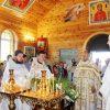 Чудесное творение рук Божьих и человеческих. В деревне Загорье освятили церковь в честь святой праведной Анны (+видео с высоты)
