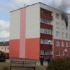 В Кореличах по улице Гагарина 4а горела квартира