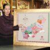 К 75-летию Гродненщины. В Кореличском Доме ремёсел создали уникальную картину с аутентичным орнаментом каждого района